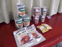 フードバンク山梨からご協力いただいた救援用食糧